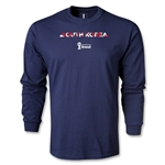 South Korea 2014 FIFA World Cup Brazil(TM) Men's LS Palm T-Shirt (Navy)