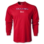 South Korea 2014 FIFA World Cup Brazil(TM) Men's LS Palm T-Shirt (Red)
