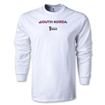 South Korea 2014 FIFA World Cup Brazil(TM) Men's LS Palm T-Shirt (White)