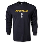 Australia 2014 FIFA World Cup Brazil(TM) Men's LS Core T-shirt (Black)