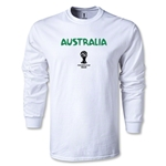 Australia 2014 FIFA World Cup Brazil(TM) Men's LS Core T-shirt (White)