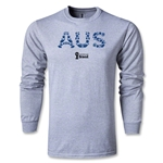 Australia 2014 FIFA World Cup Brazil(TM) Men's LS Core T-shirt (Gray)