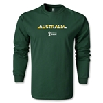 Australia 2014 FIFA World Cup Brazil(TM) Men's LS T-shirt (Dark Green)