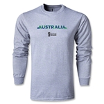 Australia 2014 FIFA World Cup Brazil(TM) Men's LS T-shirt (Gray)