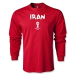 Iran 2014 FIFA World Cup Brazil(TM) Men's LS Core T-shirt (Red)
