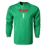 Iran 2014 FIFA World Cup Brazil(TM) Men's LS Core T-shirt (Green)