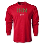 Iran 2014 FIFA World Cup Brazil(TM) Men's LS Elements T-Shirt (Red)