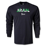 Iran 2014 FIFA World Cup Brazil(TM) Men's LS Palm T-Shirt (Black)