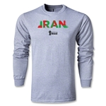 Iran 2014 FIFA World Cup Brazil(TM) Men's LS Palm T-Shirt (Gray)