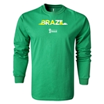Brazil 2014 FIFA World Cup Brazil(TM) LS Team T-Shirt (Green)