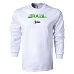 Brazil 2014 FIFA World Cup Brazil(TM) LS Team T-Shirt (White)