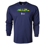 Brazil 2014 FIFA World Cup Brazil(TM) LS Team T-Shirt (Navy)
