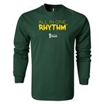 2014 FIFA World Cup Brazil(TM) LS All in One Rhythm T-Shirt (Dark Green)