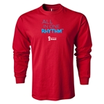 2014 FIFA World Cup Brazil(TM) LS All in One Rhythm T-Shirt (Red)
