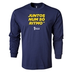 2014 FIFA World Cup Brazil(TM) LS Portugese All in One Rhythm T-Shirt (Navy)