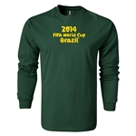 2014 FIFA World Cup Brazil(TM) LS Logotype T-Shirt (Dark Green)