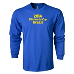 2014 FIFA World Cup Brazil(TM) LS Logotype T-Shirt (Royal)