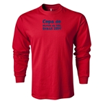 2014 FIFA World Cup Brazil(TM) LS Portugese Logotype T-Shirt (Red)