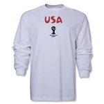 USA 2014 FIFA World Cup Brazil(TM) Men's Longsleeve Core T-Shirt (White)