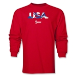 USA 2014 FIFA World Cup Brazil(TM) Men's LS Palm T-Shirt (Red)