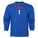 Chile 2014 FIFA World Cup Brazil(TM) Men's LS Core T-Shirt (Royal)
