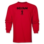 Belgium 2014 FIFA World Cup Brazil(TM) Men's LS Core T-Shirt (Red)