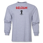 Belgium 2014 FIFA World Cup Brazil(TM) Men's LS Core T-Shirt (Grey)