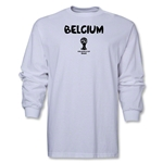 Belgium 2014 FIFA World Cup Brazil(TM) Men's LS Core T-Shirt (White)