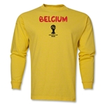 Belgium 2014 FIFA World Cup Brazil(TM) Men's LS Core T-Shirt (Yellow)