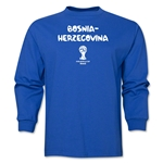 Bosnia-Herzegovina 2014 FIFA World Cup Brazil(TM) Men's LS Core T-Shirt (Royal)
