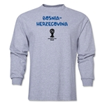 Bosnia-Herzegovina 2014 FIFA World Cup Brazil(TM) Men's LS Core T-Shirt (Grey)