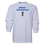 Bosnia-Herzegovina 2014 FIFA World Cup Brazil(TM) Men's LS Core T-Shirt (White)