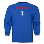 Costa Rica 2014 FIFA World Cup Brazil(TM) Men's Longsleeve Core T-Shirt (Royal)