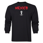 Mexico 2014 FIFA World Cup Brazil(TM) Men's LS Core T-Shirt (Black)