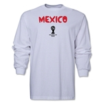 Mexico 2014 FIFA World Cup Brazil(TM) Men's LS Core T-Shirt (White)
