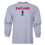 England 2014 FIFA World Cup Brazil(TM) Men's LS Core T-Shirt (Grey)