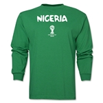 Nigeria 2014 FIFA World Cup Brazil(TM) Men's LS Core T-Shirt (Green)