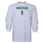Nigeria 2014 FIFA World Cup Brazil(TM) Men's LS Core T-Shirt (White)