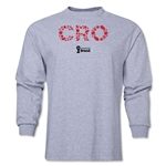 Croatia 2014 FIFA World Cup Brazil(TM) Men's LS Elements T-Shirt (Grey)