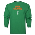 Cote d'Ivoire 2014 FIFA World Cup Brazil(TM) Men's LS Core T-Shirt (Green)