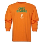 Cote d'Ivoire 2014 FIFA World Cup Brazil(TM) Men's LS Core T-Shirt (Orange)
