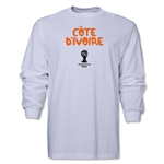 Cote d'Ivoire 2014 FIFA World Cup Brazil(TM) Men's LS Core T-Shirt (White)