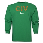Cote d'Ivoire 2014 FIFA World Cup Brazil(TM) Men's LS Elements T-Shirt (Green)