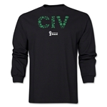 Cote d'Ivoire 2014 FIFA World Cup Brazil(TM) Men's LS Elements T-Shirt (Black)