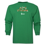 Cote d'Ivoire 2014 FIFA World Cup Brazil(TM) Men's LS Palm T-Shirt (Green)
