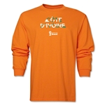 Cote d'Ivoire 2014 FIFA World Cup Brazil(TM) Men's LS Palm T-Shirt (Orange)