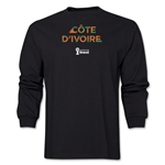 Cote d'Ivoire 2014 FIFA World Cup Brazil(TM) Men's LS Palm T-Shirt (Black)