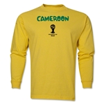 Cameroon 2014 FIFA World Cup Brazil(TM) Men's LS Core T-Shirt (Yellow)