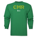 Cameroon 2014 FIFA World Cup Brazil(TM) Men's LS Element T-Shirt (Green)