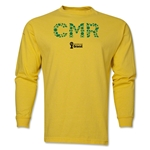 Cameroon 2014 FIFA World Cup Brazil(TM) Men's LS Element T-Shirt (Yellow)